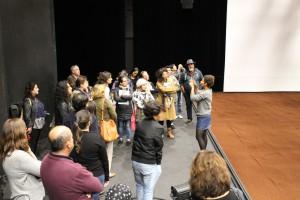 Explication d'Anouk à l'intérieur du pavillon sept 2017